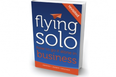 Flying Solo Book Cover for Marketing Tips for Startups Interview on Jen Clark Design blog
