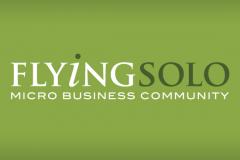 The Flying Solo logo for Marketing Tips for Startups Interview on Jen Clark Design blog