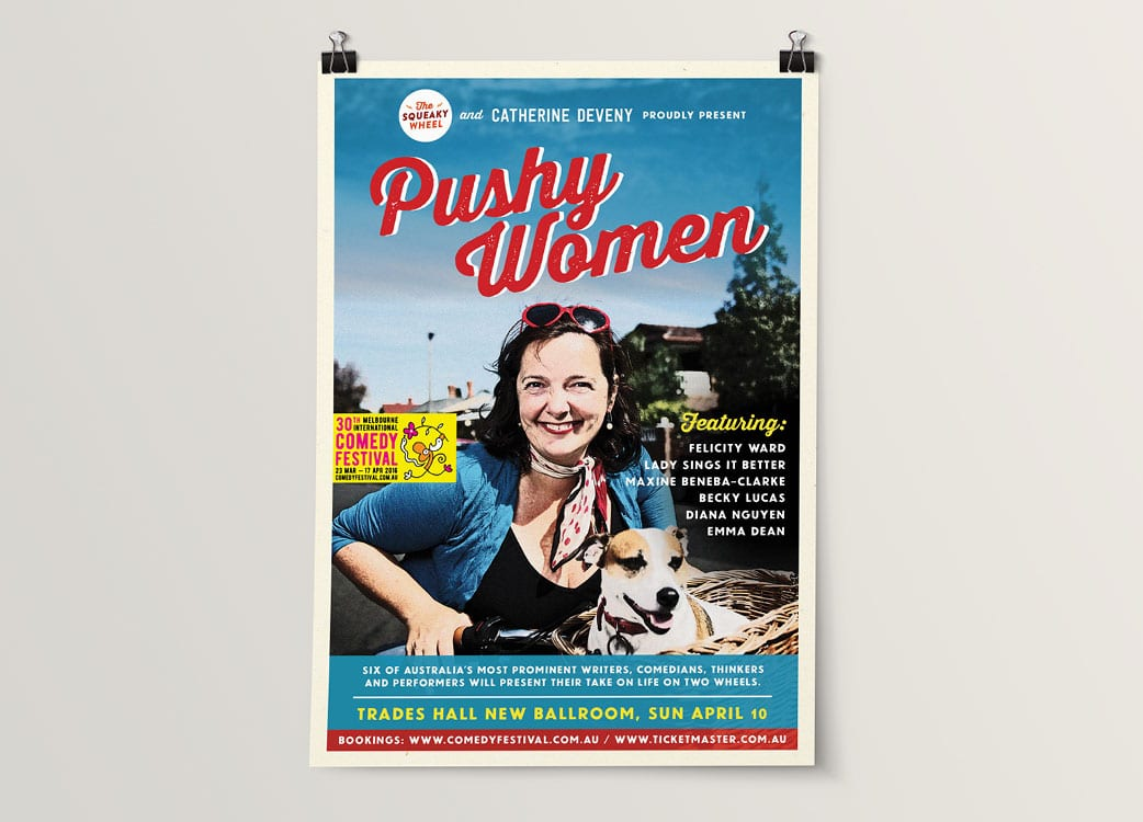 Poster Design Concept for Pushy Women