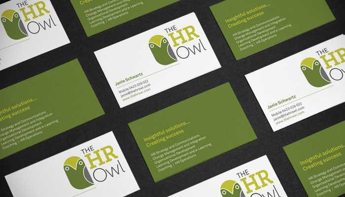 The HR Owl Brand Identity Logo Branding Melbourne