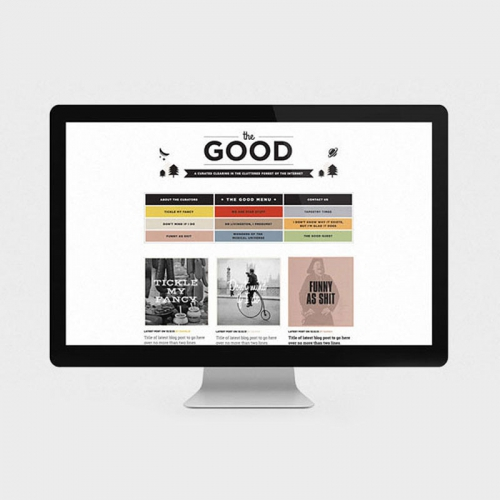 Home page of The Good Blog website with Charlie Pickering - web design studio Melbourne