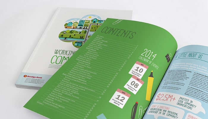 Canterbury and Surrey Hills Community Finance Annual Report Print Design Melbourne