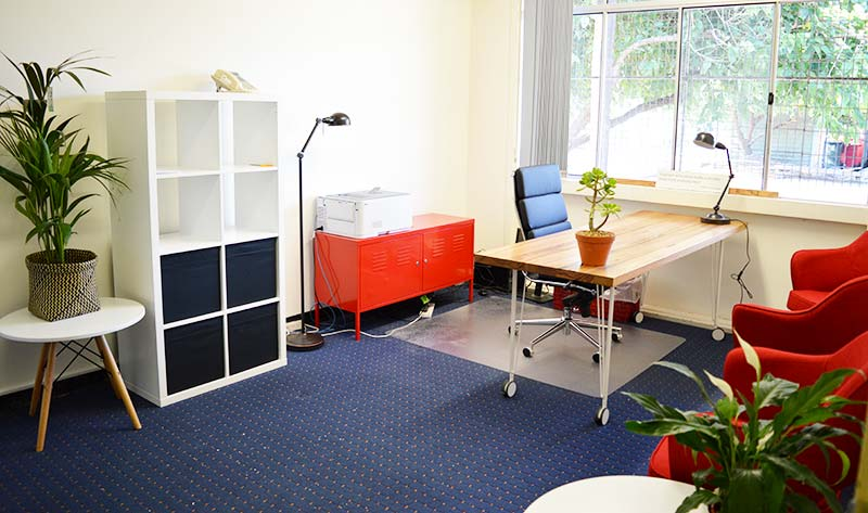 Interior of Principal's Office after office design and refurbishment | Jen Clark Design
