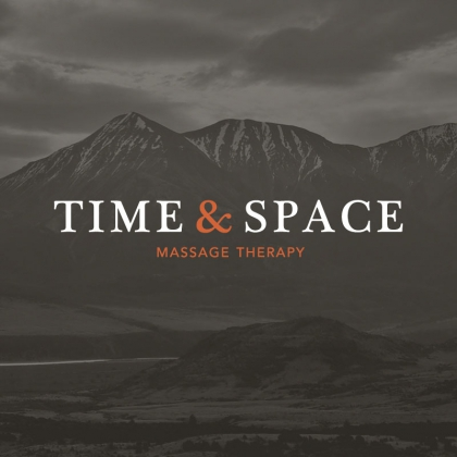 Logo for Time & Space Massage Therapy - branding by graphic design studio in Melbourne