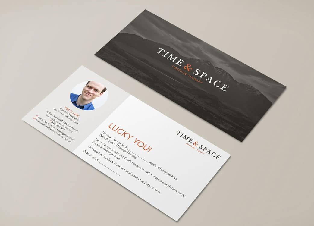 Time and Space Massage Therapy Brand Identity Logo Branding Melbourne