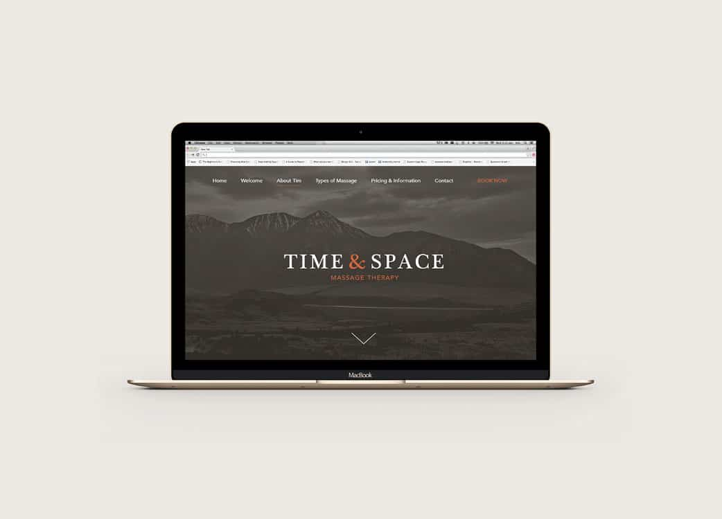 Time and Space Massage Therapy Wordpress Web Design Website Design Melbourne