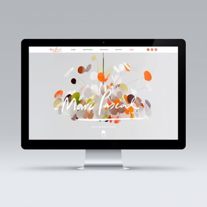 Online store website design for Marc Pascal