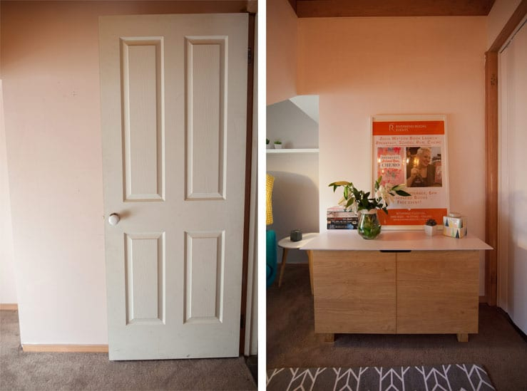 Melbourne Home Office Renovation for Julia Watson - Door removed - Before and After
