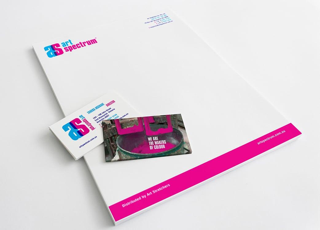 Art Spectrum stationary kit design