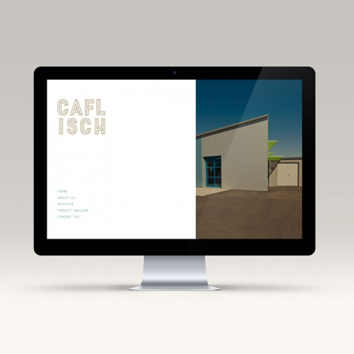 Home page of Caflisch website - web design studio Melbourne