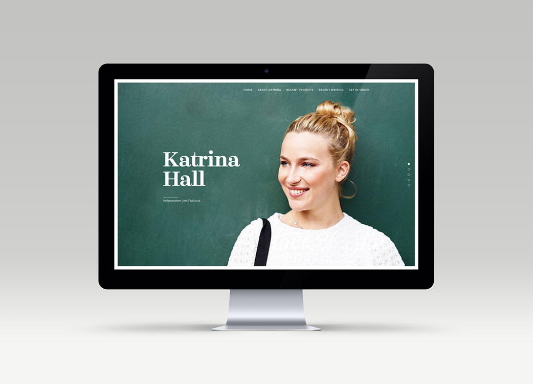 Home page of Website Design for Katrina Hall