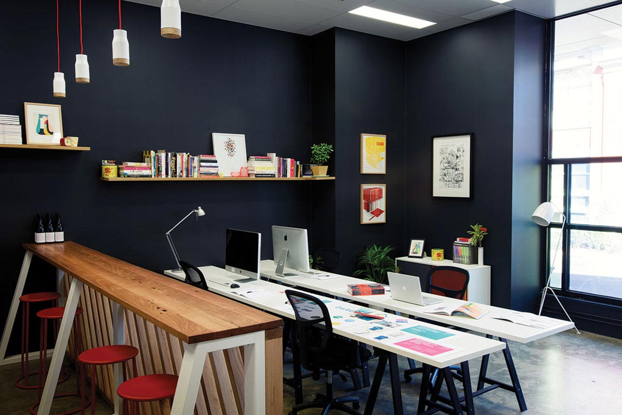 Interior of Jen Clark Design Studio Melbourne