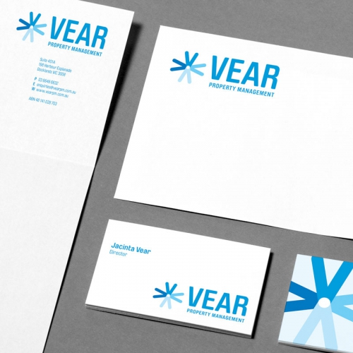 Vear Property Management Logo - branding and logo design - graphic design studio Melbourne