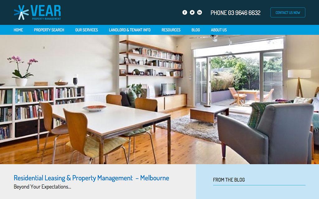 Screenshot of VearPM Website