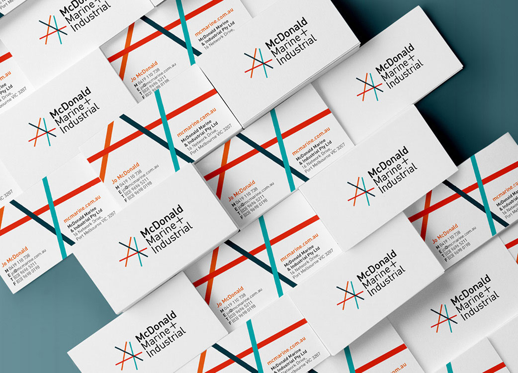 Business Cards with Brand Identity for McDonald Marine + Industrial
