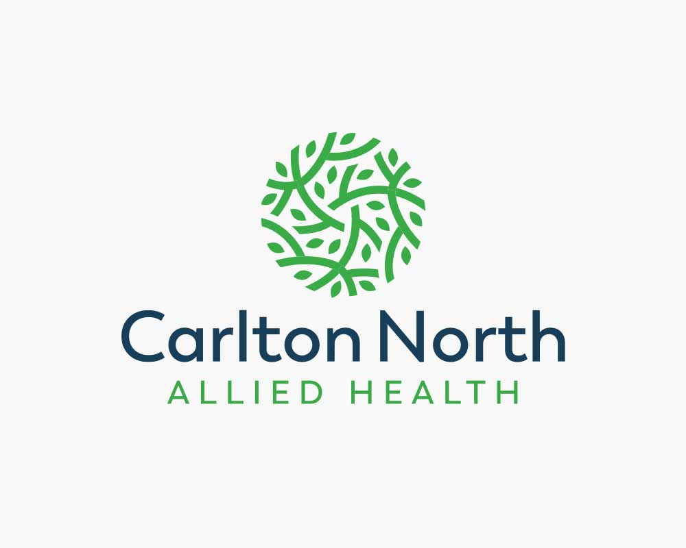 Carlton North Allied Health (CNAH) logo design on white background