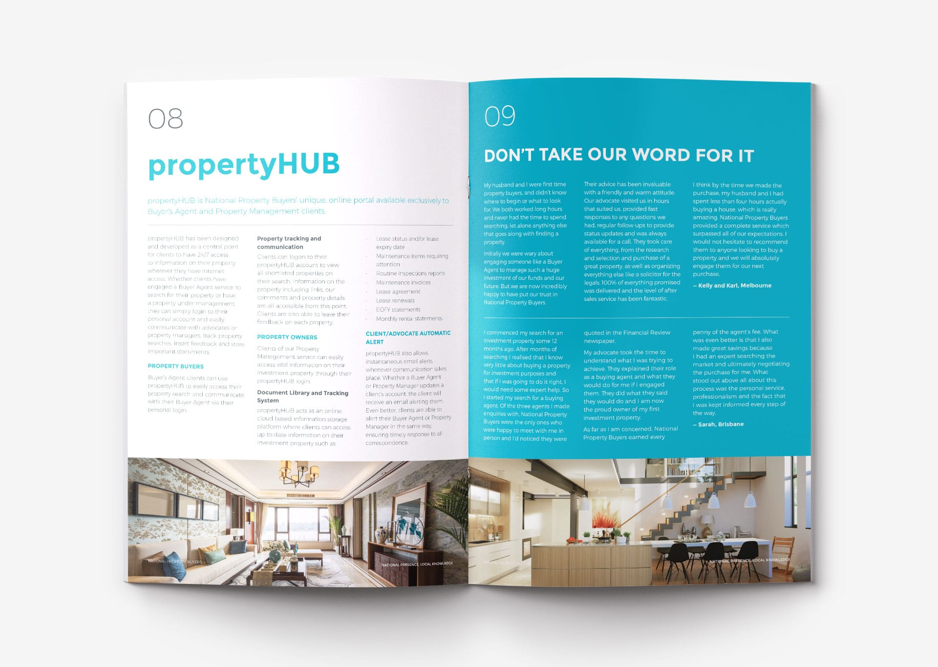 National Property Buyers print design