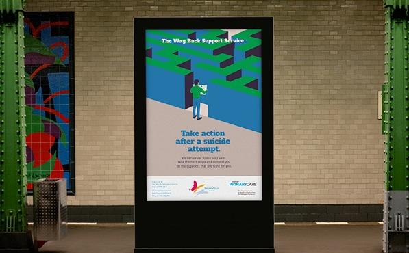 Beyond Blue The Way Back Support Service Print Design Melbourne