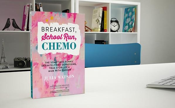 Breakfast School Run Chemo Julia Watson Five Fairies and a Fella Book Cover Design Melbourne