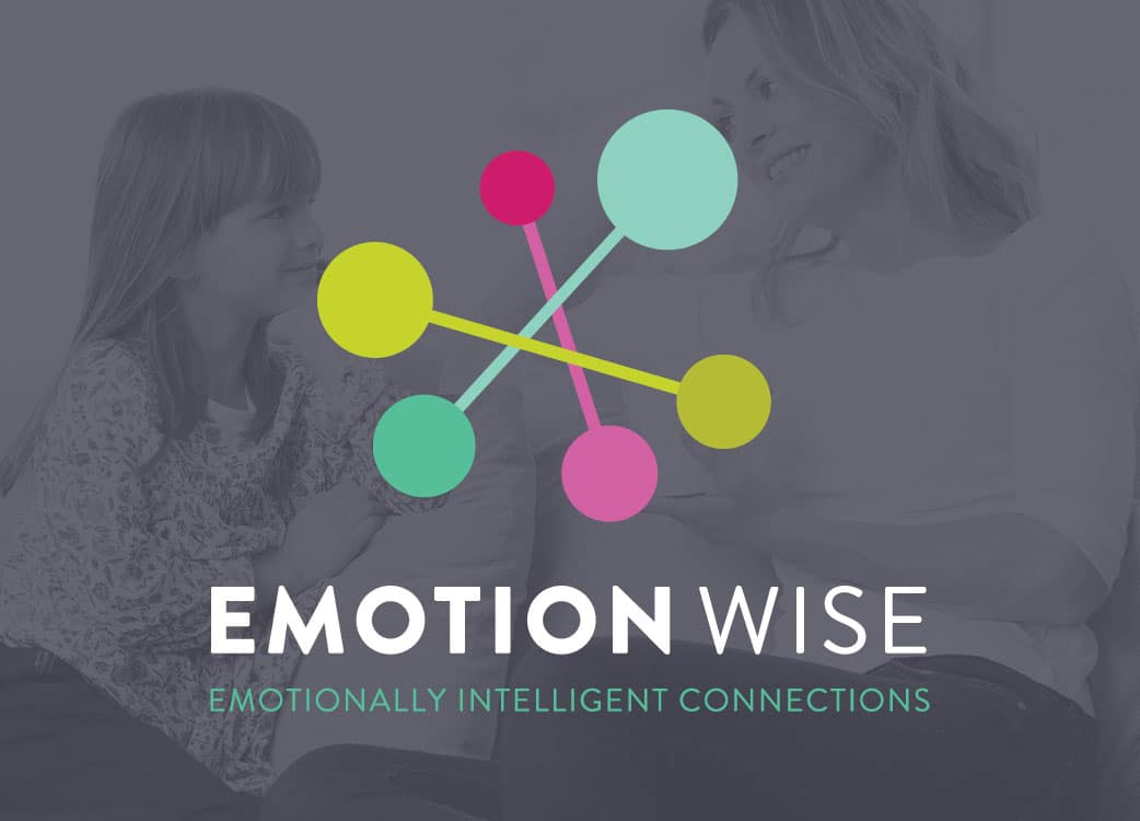 Brand Identity for Emotion Wise overlaid on Photo