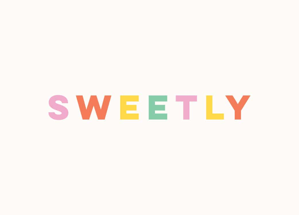 Retail shop branding and graphic design for Sweetly Icecream