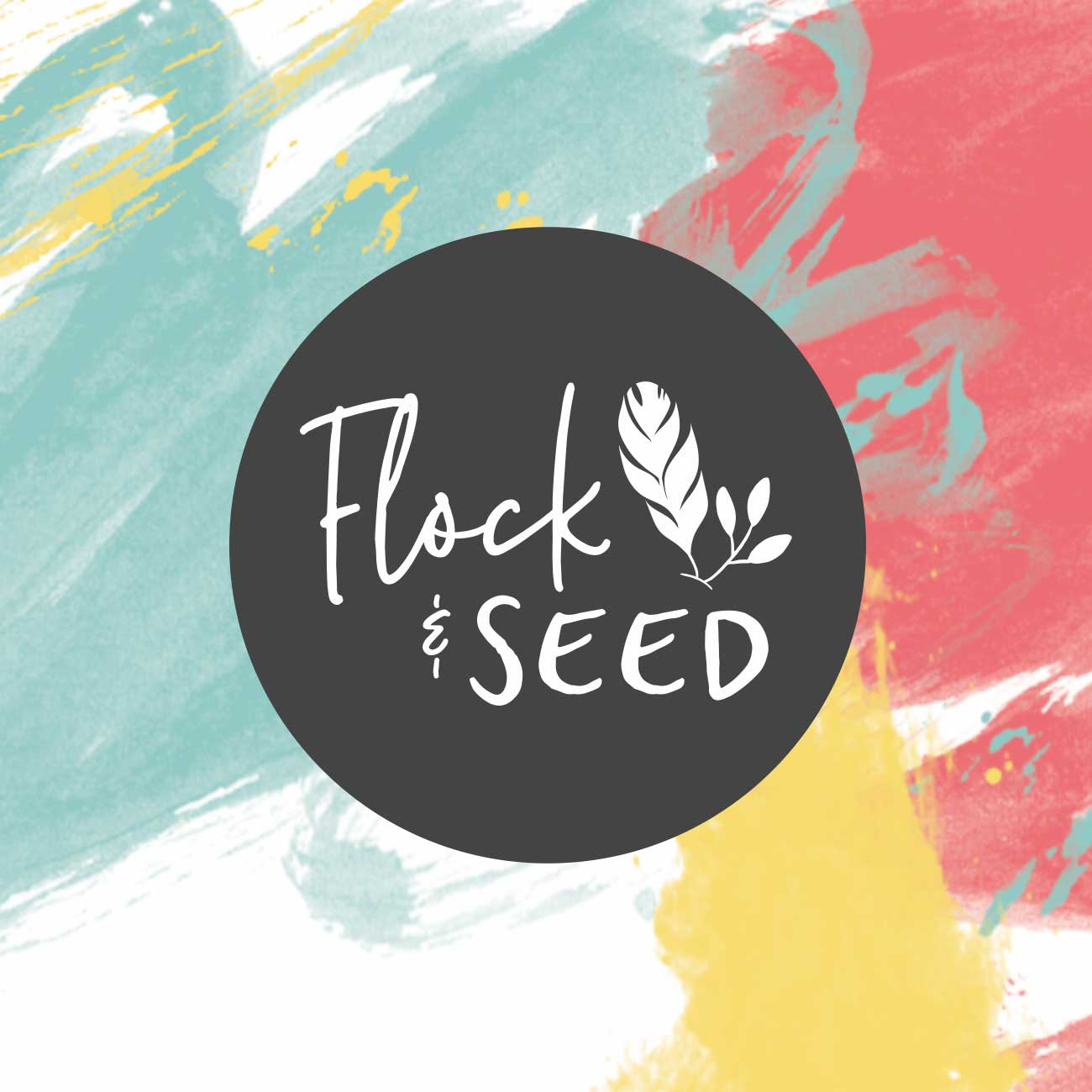 flock and seed logo design