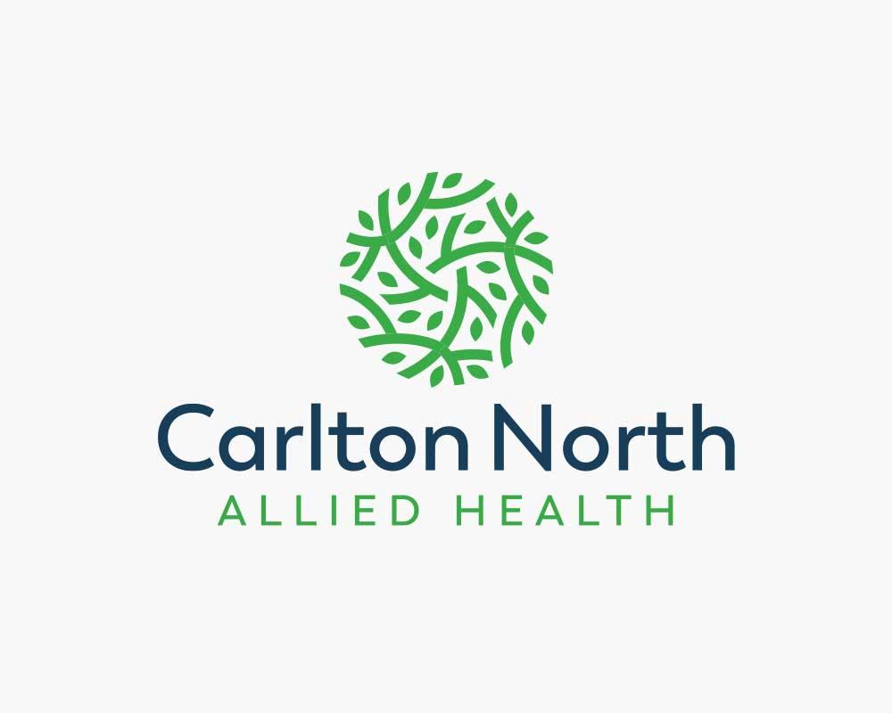 Carlton North Allied Health (CNAH) logo design on white background