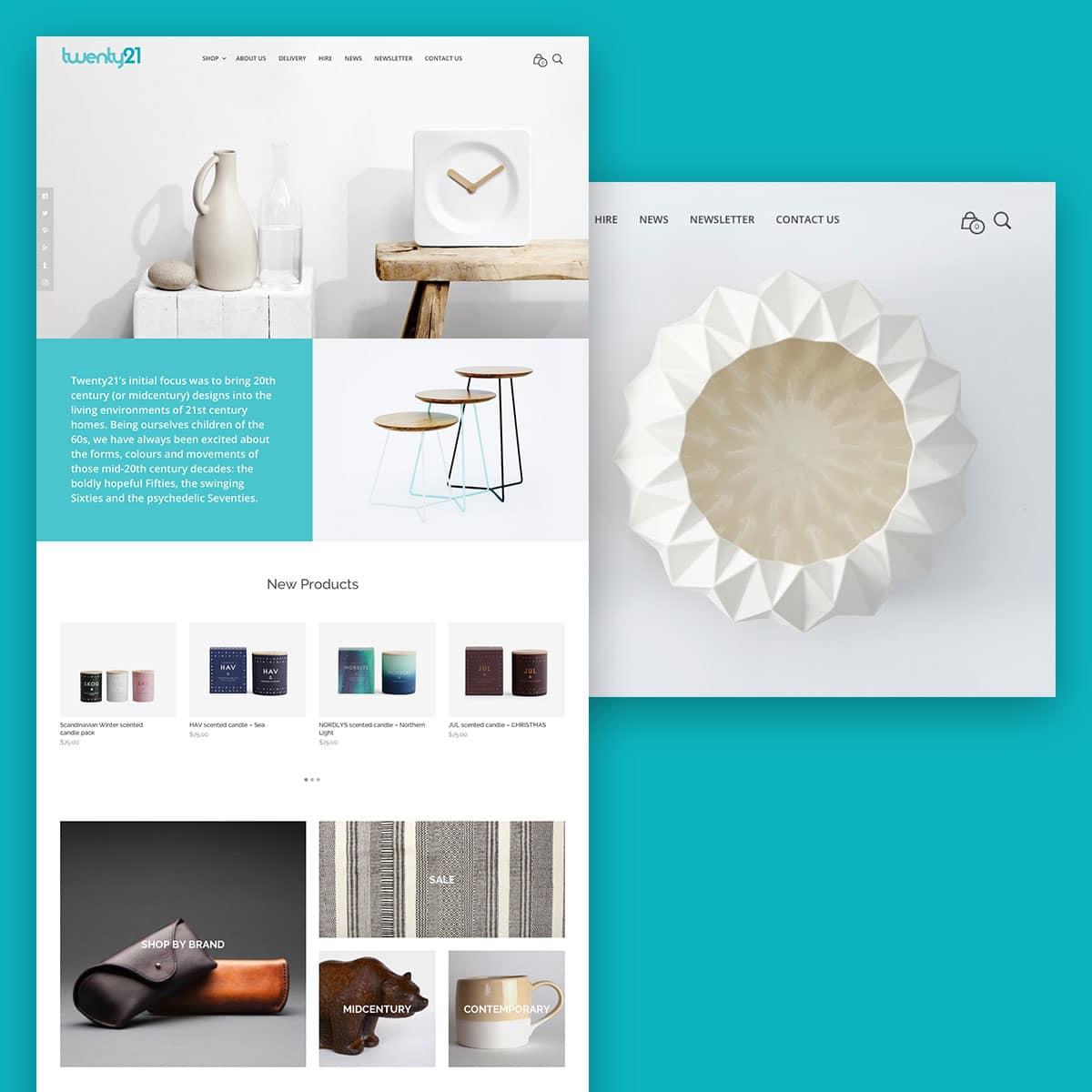 Twenty21 website design