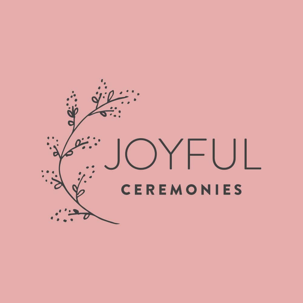 Joyful Ceremonies Castlemaine Wedding Celebrant Branding