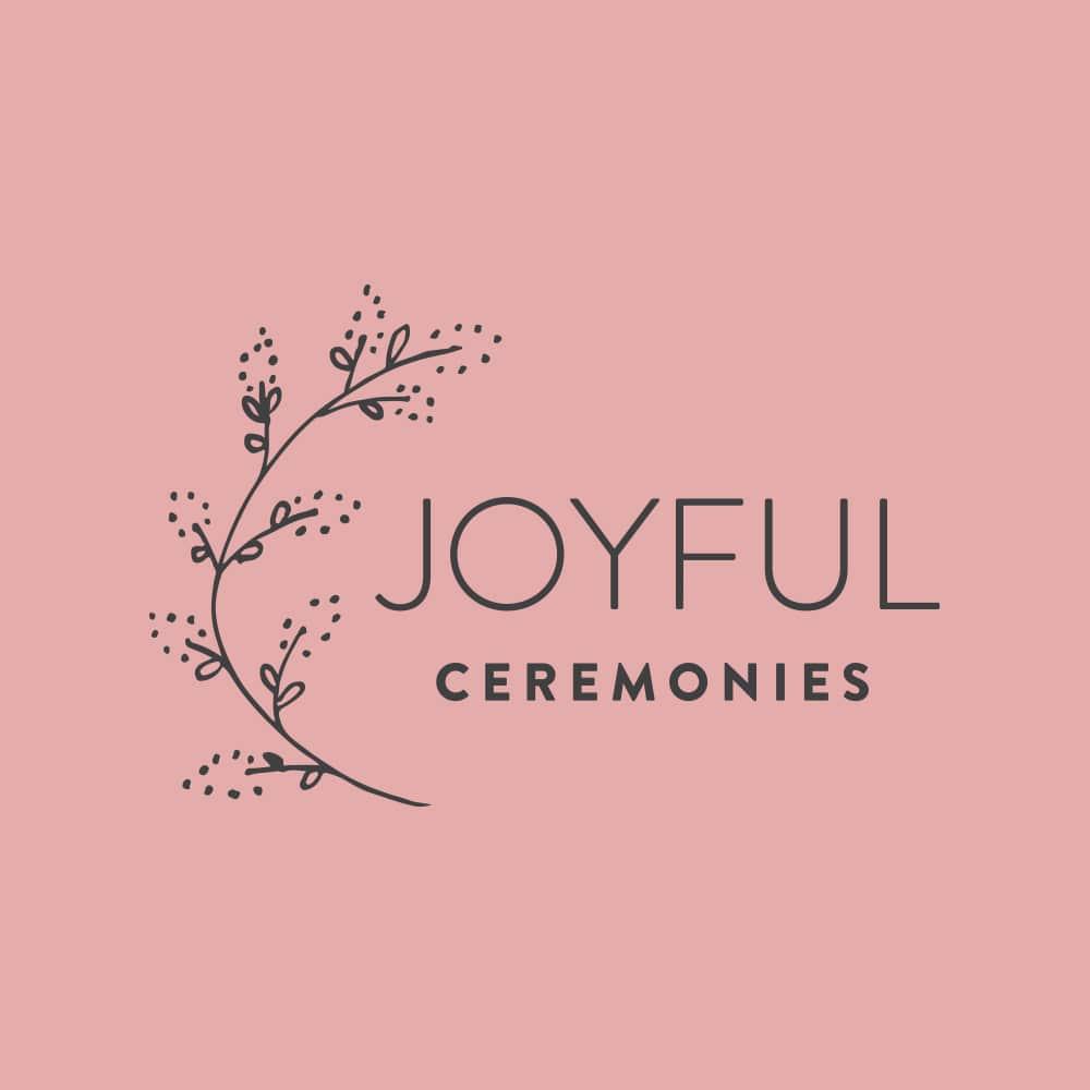 Joyful Ceremonies Castlemaine Wedding Celebrant Branding