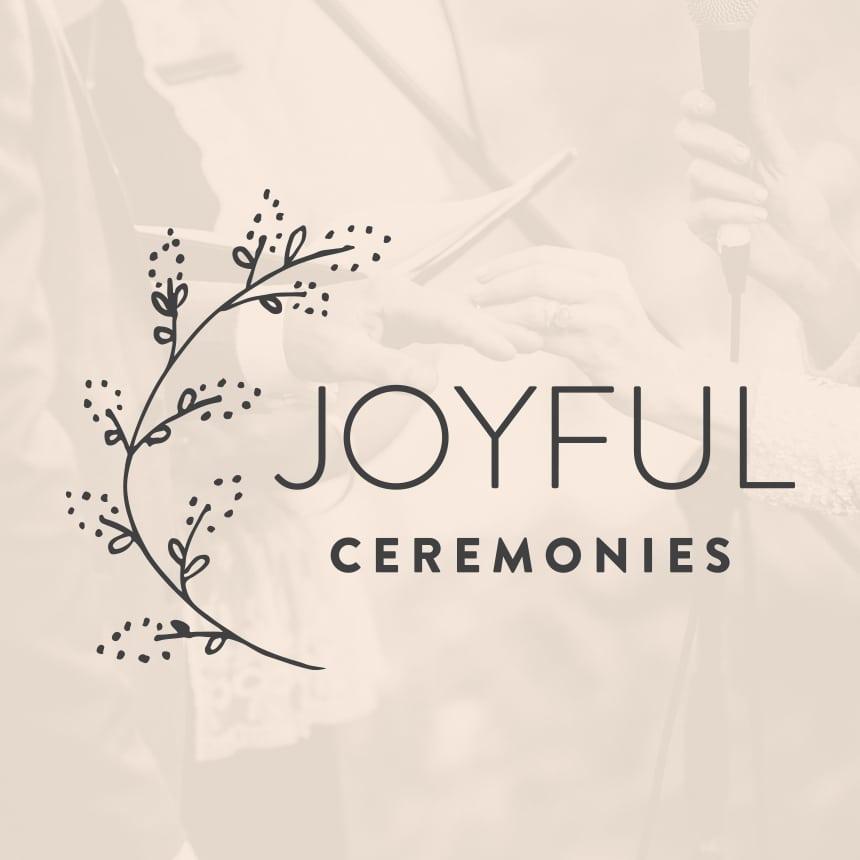 Joyful Ceremonies Logo Design Melbourne